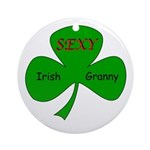 Sexy Irish Granny Ornament (Round)