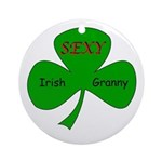 Sexy Irish Granny Ornament (Round)