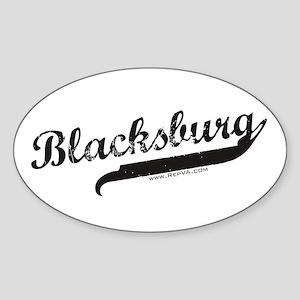Blacksburg Oval Sticker