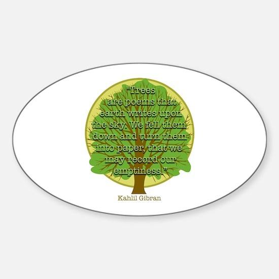 Tree Wisdom Oval Decal
