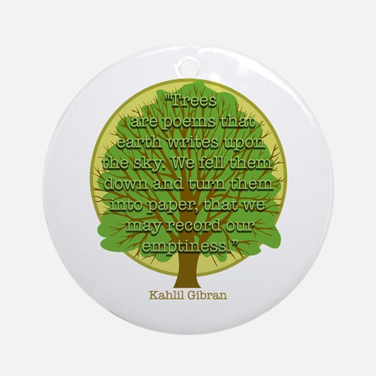 Tree Wisdom Ornament (Round)