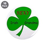 "Sexy Irish Grandma 3.5"" Button (10 pack)"