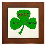 Sexy Irish Grandma Framed Tile