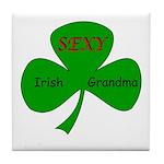Sexy Irish Grandma Tile Coaster
