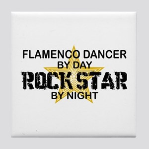 Flamenco Dancer RockStar Tile Coaster