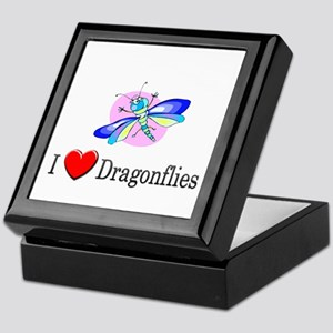 I Love Dragonflies Keepsake Box
