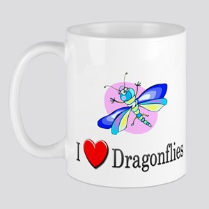 I Love Dragonflies Mug