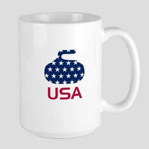 USA curling Mugs
