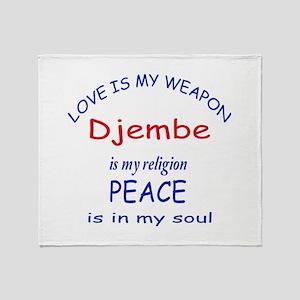 Drum is my religion Throw Blanket