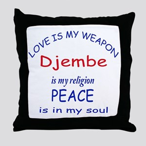 Drum is my religion Throw Pillow