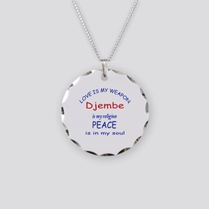 Drum is my religion Necklace Circle Charm