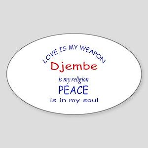 Drum is my religion Sticker (Oval)