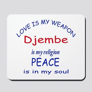 Drum is my religion Mousepad