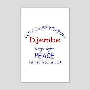 Drum is my religion Mini Poster Print