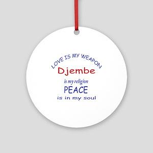 Drum is my religion Round Ornament