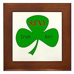 Sexy Irish Girl Framed Tile