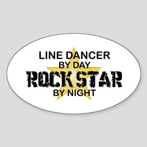 Line Dancing RockStar Oval Sticker