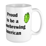 Proud to be a Homebrewing... Large Mug