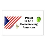 Proud to be a Homebrewing... Sticker (Rect.)