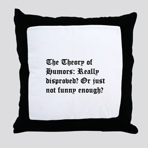 Theory of Humors Throw Pillow