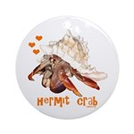 Hermit Crab Ornament (Round)