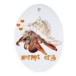Hermit Crab Ornament (Oval)