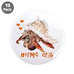 """Hermit Crab 3.5"""" Button (10 pack)"""