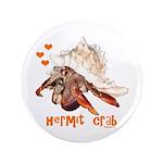 """Hermit Crab 3.5"""" Button"""