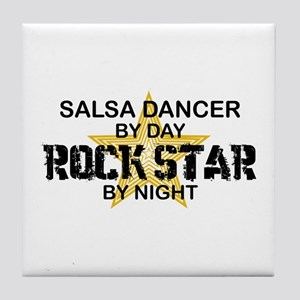 Salsa Dancer RockStar Tile Coaster