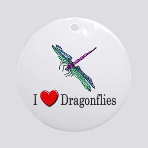 I Love Dragonflies Ornament (Round)