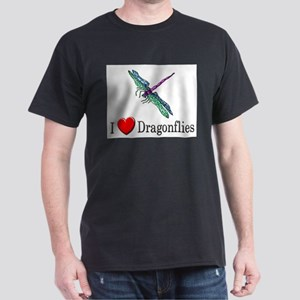 I Love Dragonflies Dark T-Shirt