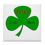 Foxy Irish Mom Tile Coaster