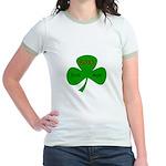 Foxy Irish Mom Jr. Ringer T-Shirt