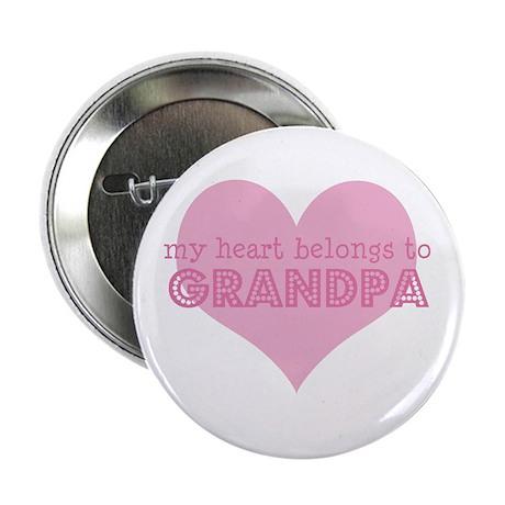"Heart belongs to grandpa 2.25"" Button"