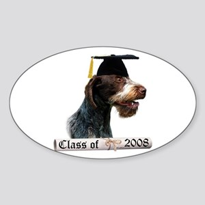 Wirehaired Grad 08 Oval Sticker