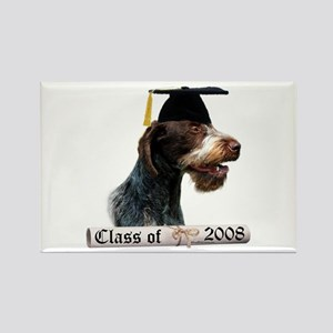 Wirehaired Grad 08 Rectangle Magnet