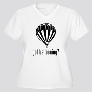 Ballooning Women's Plus Size V-Neck T-Shirt