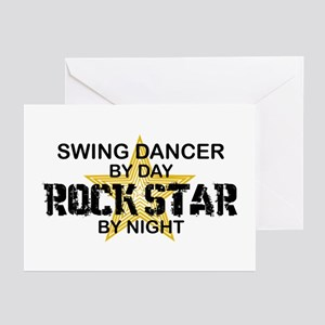 Swing Dancer RockStar Greeting Cards (Pk of 10)