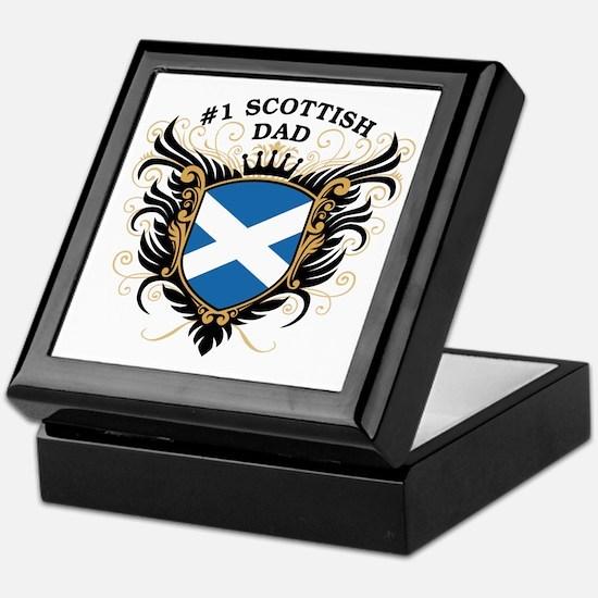 Number One Scottish Dad Keepsake Box
