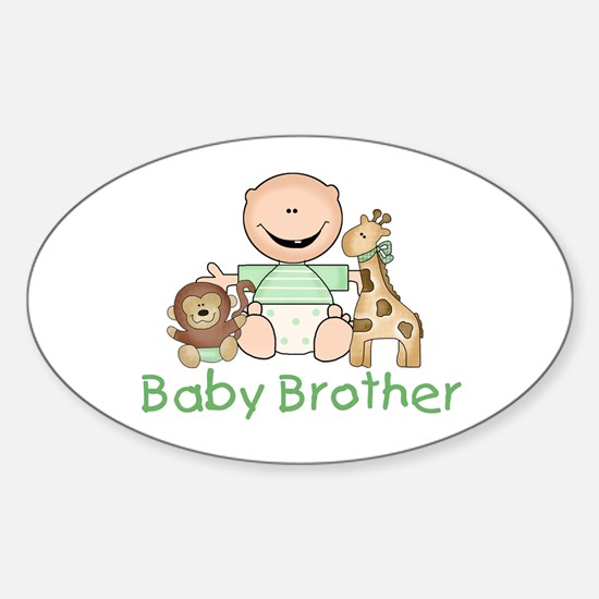 Critter Friends Baby Brother Oval Decal