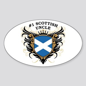 Number One Scottish Uncle Oval Sticker