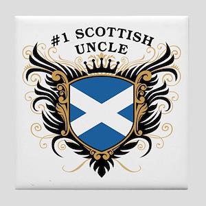 Number One Scottish Uncle Tile Coaster
