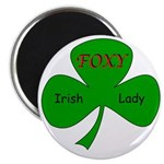 "Foxy Irish Lady 2.25"" Magnet (10 pack)"