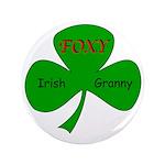"Foxy Irish Granny 3.5"" Button"