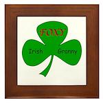 Foxy Irish Granny Framed Tile