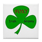 Foxy Irish Granny Tile Coaster