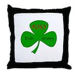 Foxy Irish Granny Throw Pillow