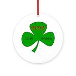 Foxy Irish Granny Ornament (Round)