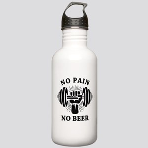 No Pain No Beer BLK Stainless Water Bottle 1.0L