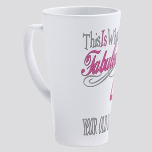 Fabulous 40th Birthday 17 Oz Latte Mug